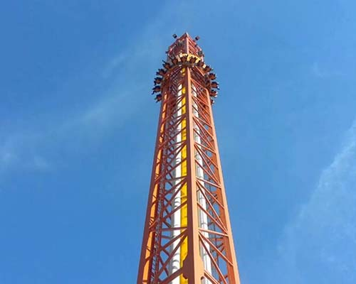thrill drop tower ride